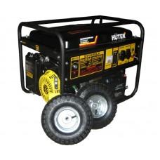 Электрогенератор Huter DY6500LX с электростартером, колесами и аккумулятором (5.0 кВт / 5.5 кВт)